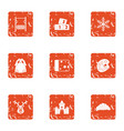 descendant icons set grunge style vector image vector image