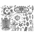 engraved in gothic and mystic vector image vector image