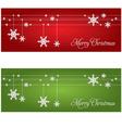 Festive Christmas banners vector image