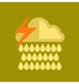 flat icon on stylish background thunderstorm rain vector image