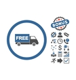 Free Shipment Flat Icon With Bonus vector image vector image