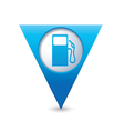 gas station map pointer blue vector image vector image