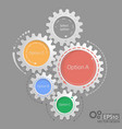 gear relationship for business concepts vector image vector image
