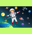 girl dressed up as astronaut vector image