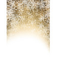 Golden winter background with snowflakes vector image vector image