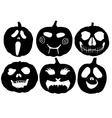 Halloween Pumpkin Silhouette vector image vector image