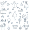 Hand draw christmas set design vector image