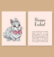 hand drawn easter gift card vector image vector image