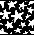 Hand drawn paint seamless pattern black and white
