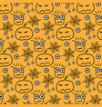 hand drawn pattern with monsters halloween vector image