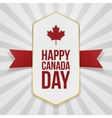Happy Canada Day greeting Badge vector image vector image