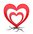 Icon with heart and cracks vector image vector image