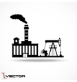 Industrial factory icon on gray background vector image