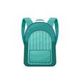kids schoolbag icon green rucksack vector image vector image
