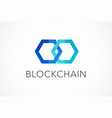 logo concept for blockchain and fintech industry vector image vector image