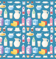 milk everyday products food and milky dairy drinks vector image vector image