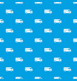 minibus taxi pattern seamless blue vector image vector image
