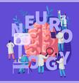 neurology medical banner medicine neurologist vector image