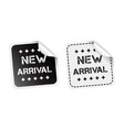 new arrival sticker black and white vector image vector image