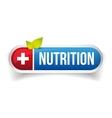 Nutrition button icon vector image vector image