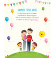 of happy family vector image
