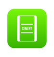 one bag of cement icon digital green vector image vector image