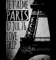 paris - a city love and romanticism vector image