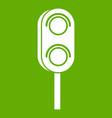 semaphore trafficlight icon green vector image vector image