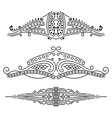 Set of calligraphic elements vector image