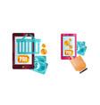 set online payment methods e-commerce concept vector image vector image
