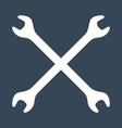 silhouette icon crossed wrenches workshop vector image vector image