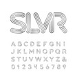 silver font alphabet with chrome effect letters vector image vector image