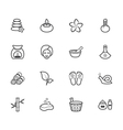 spa element black icon set on white background vector image