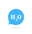 speech bubble like h2o water logo vector image vector image