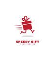 speedy gift logo vector image