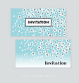 spring blossom invitation card template simple