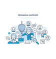 technical support call center consultation vector image vector image