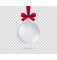 transparent realistic christmas ball isolated vector image vector image