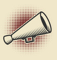 vintage megaphone on retro style background vector image