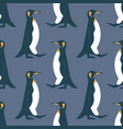 walking king penguin seamless pattern vector image vector image