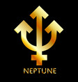 zodiac and astrology symbol of the planet neptune vector image