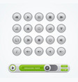 white round media player buttons vector image