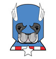 2 superhero symbol as french bulldog character vector image