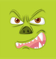 an evil monster face vector image