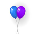 balloons 3d bunch couple set thread isolated vector image