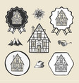 bavarian germany vintage house icon flat web sign vector image vector image