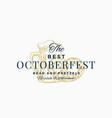 best oktoberfest pretzels and beer abstract vector image vector image