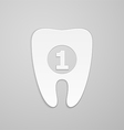 Best tooth vector image vector image