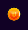 bitcoin cryptocurrency coin icon of virtual vector image