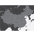 black and white map of china vector image
